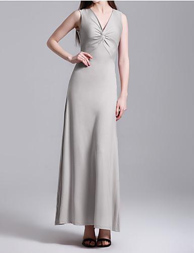 levne Maxi šaty-Dámské Štíhlý Pouzdro Šaty Maxi Dusty Rose