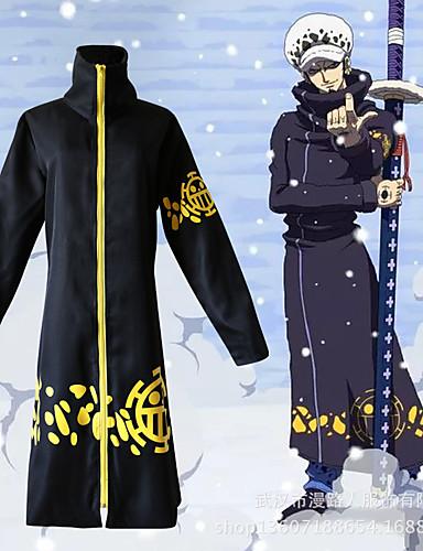 povoljno Maske i kostimi-Inspirirana One Piece Trafalgar Law Anime Cosplay nošnje Japanski Cosplay Suits Print Plašt / Šešir Za Muškarci