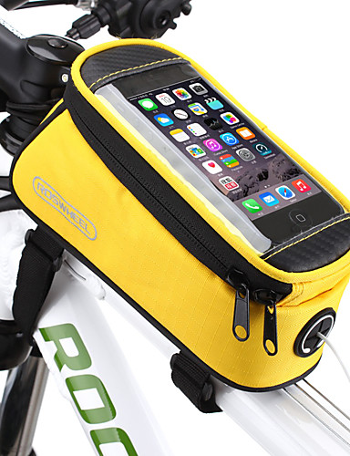 povoljno Biciklizam-ROSWHEEL Mobitel Bag Bike Frame Bag 5.5 inch Touch Screen Vodootporno Biciklizam za Samsung Galaxy S6 LG G3 Samsung Galaxy S4 Blue / crna Crvena Plava Biciklizam / Bicikl / iPhone X / iPhone XR
