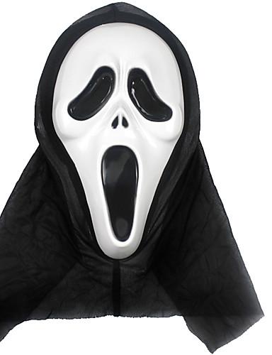 preiswerte Kostüme für Erwachsene-Cosplay Kostüme Maske Halloween-Maske Inspiriert von Skelett / Totenkopf Gruseliger Film Golden Weiß Halloween Halloween Maskerade Erwachsene Herrn Damen