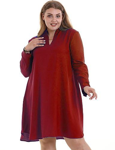 abdacf26e Mujer Básico Línea A Vestido Un Color Sobre la rodilla 7218252 2019 –  16.99