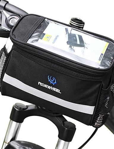 povoljno Biciklizam-ROSWHEEL 4.5 L Bike Volan Bag Otporno na vlagu Podesan za nošenje Otpornost na udarce Torba za bicikl PVC 600D poliester Torba za bicikl Torbe za biciklizam Samsung Galaxy S6 / iPhone 4/4S / LG G3