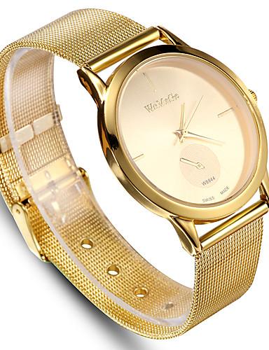 1e844e34a40a Mujer Reloj Deportivo Reloj de Vestir Reloj de Pulsera Cuarzo Acero  Inoxidable Negro   Plata   Dorado Reloj Casual Analógico Moda Reloj con  palabras - Plata ...