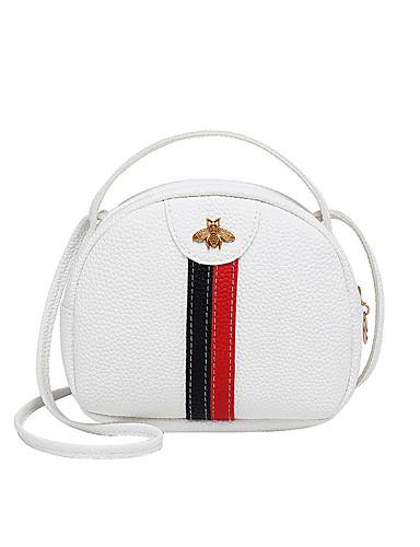 preiswerte Elegante Taschen für Damen-Damen Reißverschluss PU Schultertasche Einfarbig Schwarz / Rosa / Rote