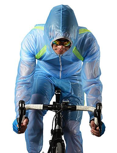 povoljno Odjeća za vožnju biciklom-ROCKBROS Muškarci Žene Biciklistička jakna s hlačama Bicikl Vjetronepropusne jakne Raincoat Sportska odijela Vjetronepropusnost Prozračnost Quick dry Sportski Poliester Obala / Zelen / Plava Brdski