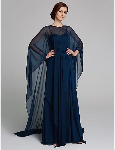 Deux Pièces Bretelles Fines Longueur Sol Maille Sans Manches Transparent Robe de Mère de Mariée ...
