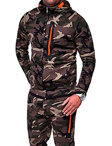 voordelige Uitverkoop-Heren Militair Trui met capuchon camouflage