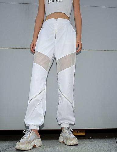 fda77f8962 Mujer Chic de Calle Diario Chinos Pantalones - Un Color Malla Blanco S M L  7208210 2019 – $24.74