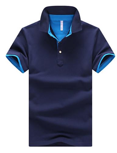voordelige Herenpolo's-Heren Grote maten - Polo Effen Overhemdkraag Zwart