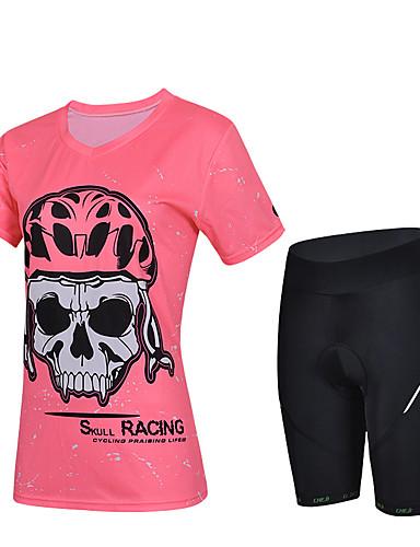 povoljno Odjeća za vožnju biciklom-cheji® Žene Kratkih rukava Biciklistička majica s kratkim hlačama Crvena Pink Tamno roza Bicikl Biciklistička majica Podstavljene kratke hlače Sportska odijela Quick dry Sportski Likra Jednobojni
