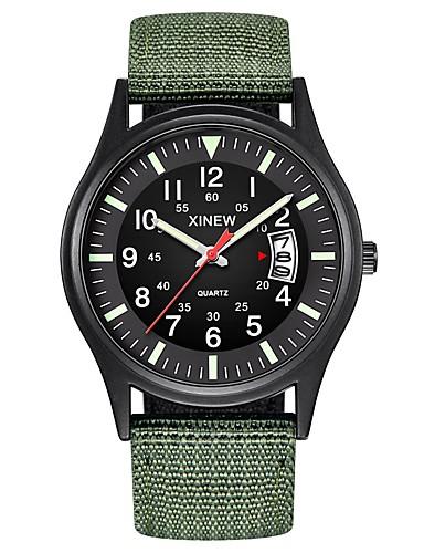 76a82b120 Hombre Reloj Militar Reloj de caza Cuarzo Nailon Negro / Azul / Marrón  Calendario Cronógrafo Nuevo diseño Analógico Clásico Al Aire Libre - Verde  Azul Verde ...