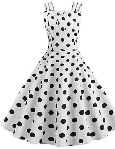 preiswerte Ingwer Kollektion-Damen A-Linie Kleid Übers Knie Gurt