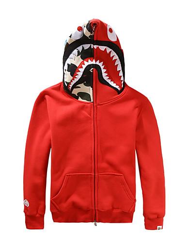 povoljno Maske i kostimi-Shark Cosplay Nošnje Odrasli Muškarci Halloween Halloween Maškare Festival / Praznik Pamuk Crn / Red / Sive boje Karneval kostime Kolaž