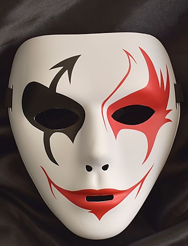 preiswerte Kostüme für Erwachsene-Weiße Maske Halloween-Maske Inspiriert von Melbourne Shuffle Dance Schwarz Weiß Halloween Halloween Maskerade Erwachsene Herrn Damen