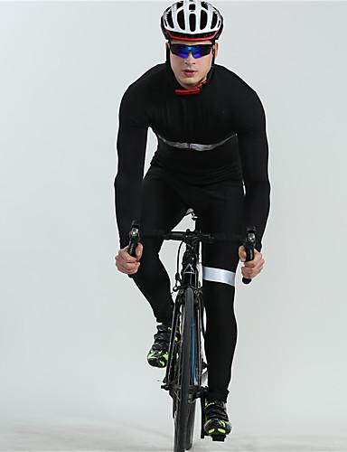 povoljno Odjeća za vožnju biciklom-BOESTALK Muškarci Dugih rukava Biciklistička majica s tregericama Biciklistička majica Trodjelno odijelo Crn Dungi Bicikl Ugrijati Prozračnost Povratak džep Zima Sportski Runo Dungi Brdski biciklizam