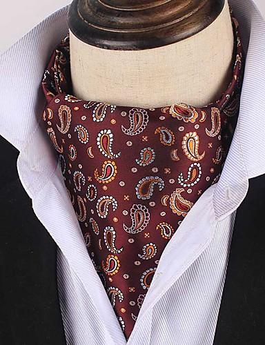 זול עניבות ועניבות פרפר לגברים-עניבה ואסקוט - דפוס / פייסלי / סרוג מסיבה / עבודה / חסין רוח בגדי ריקוד גברים