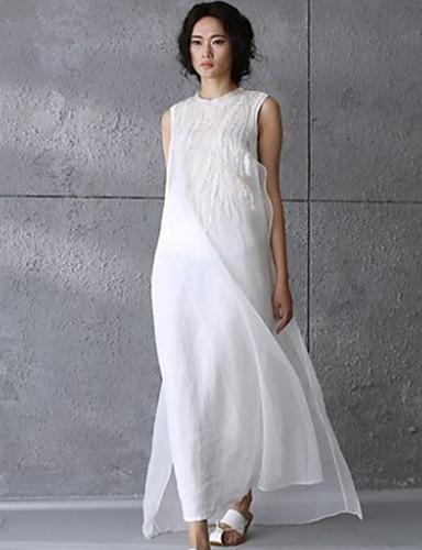 voordelige Maxi-jurken-Dames Slank A-lijn Jurk Maxi
