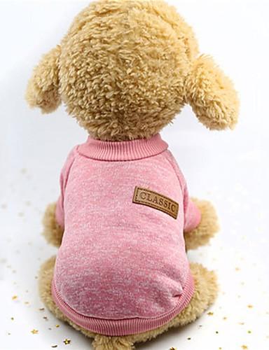 preiswerte Spielzeug & Hobby Artikel-Hunde Weste Winter Hundekleidung Rosa Grau Khaki Kostüm Gepolsterten Stoff Solide warm halten Geflochten / Schnur S M L