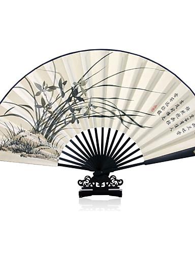 povoljno Maske i kostimi-Odrasli Muškarci Žene Azijski Kićanka Kineski stil Cosplay Nošnje Za Party Svakodnevica Dar Tkanina Demin Bambus Sklopivi ručni ventilator