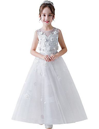f15efce4342 Princess Floor Length Flower Girl Dress - Lace Sleeveless Jewel Neck with  Petal by LAN TING Express 7167819 2019 –  84.99