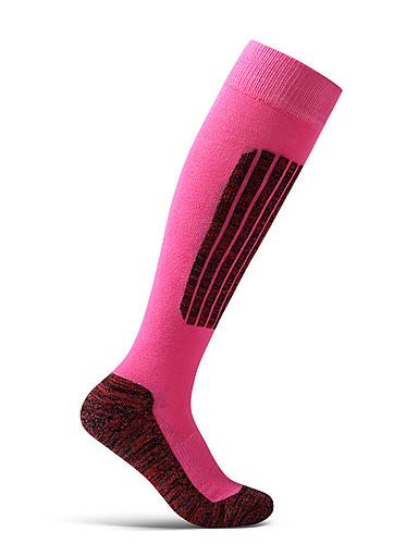 povoljno Biciklističke čarape-Muškarci Žene Sport čarape / atletske čarape Biciklističke čarape Kompresija Čarape Prozračnost Anti-Slip Puha Izzadás-elvezető Podrška Crn Fuksija Zelen Pamuk Elastan Zima Cestovni bicikl Mountain