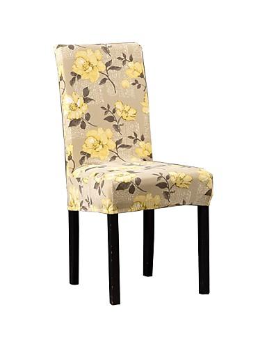 preiswerte Schlafzimmer-Stuhlabdeckung Blumen Bedruckt Polyester Überzüge