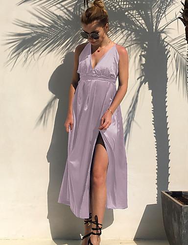 levne Maxi šaty-Dámské Šik ven Pouzdro Šaty - Jednobarevné Maxi