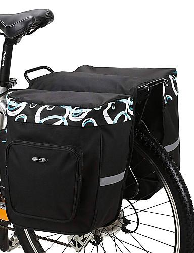 povoljno Biciklizam-ROSWHEEL 30 L Panniers & Rack Trunk Bike Trunk Bags Prilagodljivo Velika zapremnina Vodootporno Torba za bicikl Mrežica 600D poliester Torba za bicikl Torbe za biciklizam Cestovni bicikl Mountain Bike