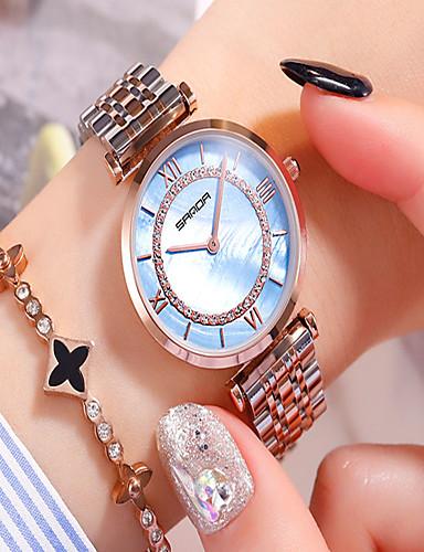 4355014c6254 Mujer Reloj de Vestir Cuarzo Acero Inoxidable Plata Resistente al Agua  Analógico Casual Moda - Blanco Azul Rosa 7150454 2019 –  29.99