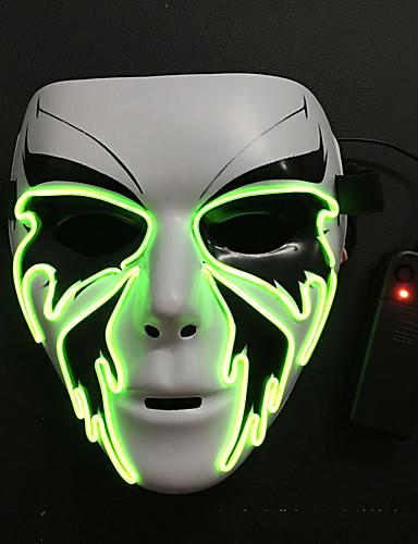 povoljno Maske i kostimi-LED Mask Maska za Noć vještica Inspirirana Grim Reaper Obala Halloween Halloween Maškare Odrasli Muškarci