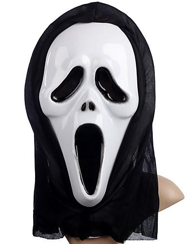 preiswerte Kostüme für Erwachsene-Cosplay Kostüme Maske Inspiriert von Skelett / Totenkopf Gruseliger Film Schwarz Weiß Halloween Halloween Maskerade Erwachsene Herrn Damen