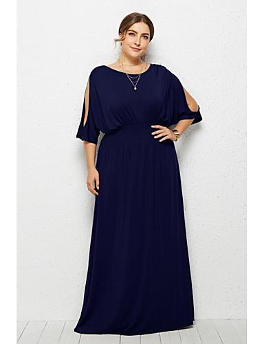 levne Maxi šaty-Dámské Základní Šik ven Pouzdro Šaty - Jednobarevné Maxi