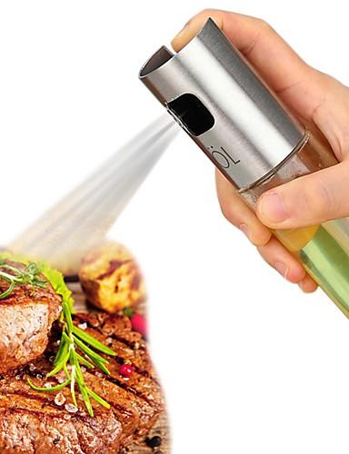 cheap BBQ Tool Set-Stainless Steel Olive Oil Sprayer Oil Spray Bottle Pump Glass Oil Pot Leak-proof Drops Oil Dispenser BBQ