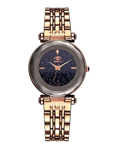 8f2f76fad6fe Mujer Reloj de Pulsera Cuarzo Acero Inoxidable Negro   Azul   Marrón 30 m  Resistente al Agua Reloj Casual Analógico Vintage Moda - Marrón Azul Oro  Rosa ...