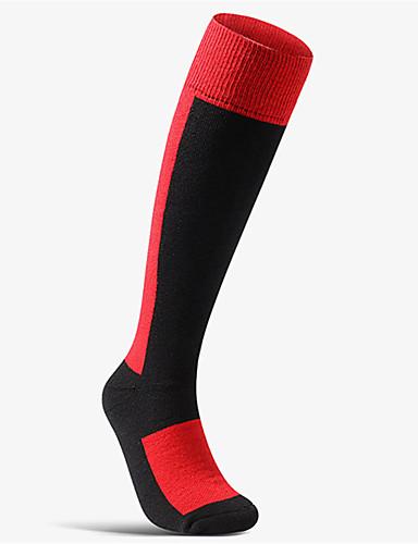 cheap Cycling-Men's Women's Athletic Sports Socks Cycling Socks Compression Compression Socks Anti-Slip Thermal Warm Breathable Soft Sweat wicking Dark Grey Purple Red Wool Elastane Winter Road Bike Fitness