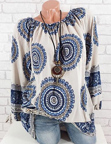 billige T-skjorter til damer-T-skjorte Dame - Geometrisk Rosa