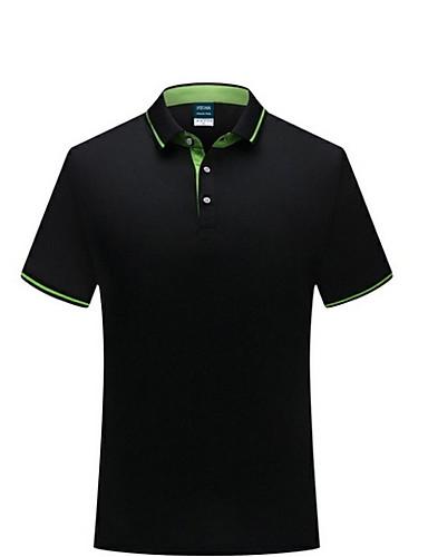 levne Pánská polo trika-Pánské - Jednobarevné Polo Košilový límec Šedá