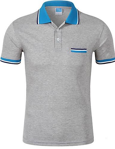 levne Pánská polo trika-Pánské - Jednobarevné Sport Polo Bavlna Košilový límec Žlutá / Léto