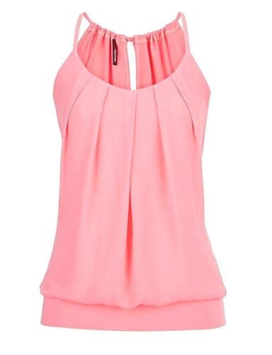 billige T-skjorter til damer-Tynn Grime Store størrelser T-skjorte Dame - Ensfarget, Flettet Vin