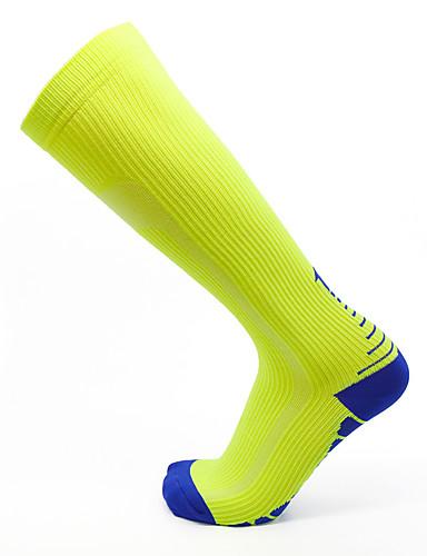 povoljno Odjeća za vožnju biciklom-Muškarci Žene Sport čarape / atletske čarape Biciklističke čarape Kompresija Čarape Duge čarape Prozračnost Anti-Slip Puha Izzadás-elvezető Podrška Crn Orange+White Blue + Orange Likra Zima Cestovni