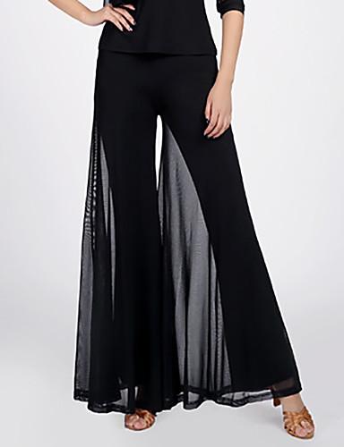 levne Shall We®-Standardní tance Spodní část oděvu Dámské Trénink / Výkon Polyester / Síťka Sklady / Rozdělení Vysoký Kalhoty
