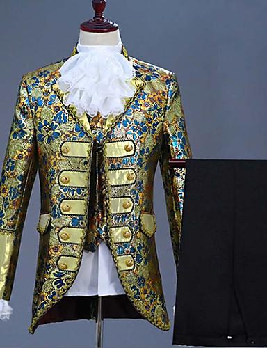levne Vánoce-Pánské EU / US velikost Obleky, Květinový Klasické klopy Akryl / Polyester Námořnická modř / Fialová / Námořnická modř
