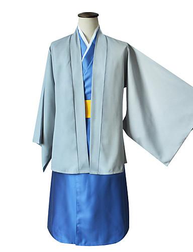 povoljno Maske i kostimi-Inspirirana Gintama Gintoki Sakata / Katsura Kotarou / Cookie Anime Anime Cosplay nošnje Japanski Cosplay Suits / Kimono Klasika Dugih rukava Plašt / Kimono Dlaka / Traka / vrpca Za Uniseks
