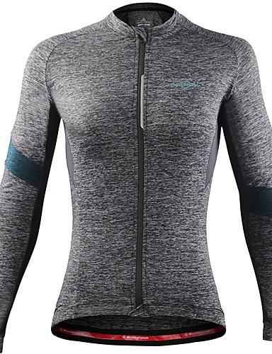 povoljno Odjeća za vožnju biciklom-Mountainpeak Žene Dugih rukava Biciklistička majica Tamno siva Siva + bijela Crna / crvena Bicikl Biciklistička majica Majice Prozračnost Ovlaživanje Sportski Zima Spandex Odjeća / Rastezljivo