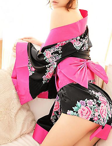 povoljno Etnički i kulturni kostime-Odrasli Žene Kimonima Kimono Jinbei Bade-mantil Za Halloween Dnevni Nosite Festival Svila Kimono Dlaka Remen