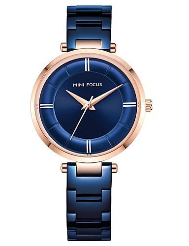 7a9207eb4d8f Mujer Reloj de Vestir Cuarzo Acero Inoxidable Negro   Azul   Dorado  Resistente al Agua Analógico Casual Moda - Negro Azul Oro Rosa 7164129 2019  –  39.99