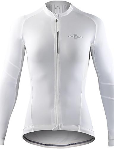 povoljno Biciklističke majice-Mountainpeak Žene Dugih rukava Biciklistička majica Tamno siva Siva + bijela Crna / crvena Bicikl Biciklistička majica Majice Prozračnost Ovlaživanje Sportski Zima Spandex Odjeća / Rastezljivo