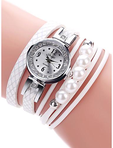 สำหรับผู้หญิง นาฬิกาควอตส์ นาฬิกาอิเล็กทรอนิกส์ (Quartz) PU Leather ดำ / สีขาว / ทอง 30 m กันน้ำ Creative นาฬิกาใส่ลำลอง ระบบอนาล็อก คลาสสิก แฟชั่น - ขาว สีดำ กุหลาบแดง หนึ่งปี อายุการใช้งานแบตเตอรี่
