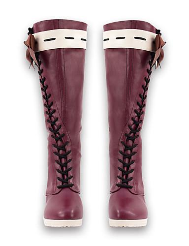 povoljno Anime cosplay-Cosplay Shoes / Cosplay Boots Violet Evergarden Violet Evergarden Anime Cosplay Shoes PU koža Uniseks Halloween kostime