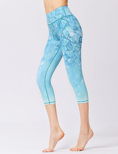 povoljno Odjeća za fitness, trčanje i jogu-Žene Hlače za jogu 3D ispis Fitness Trening u teretani 3/4 Capri hlače Odjeća za rekreaciju Prozračnost Ovlaživanje Quick dry Izzadás-elvezető Rastezljivo Slim